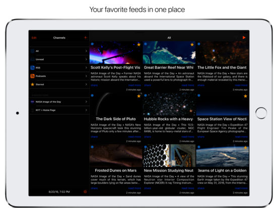 AppReader - RSS & Podcast Feed Reader Screenshots