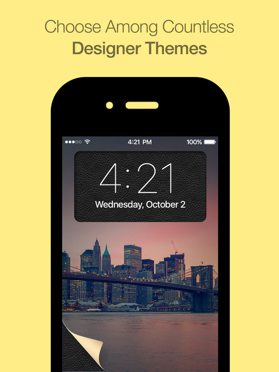 FancyLock - pimp your lock screen wallpaper and customize it with new colorful themes and styles screenshot
