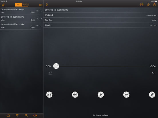 RecorderHQ - Audio recorder for cloud drive screenshot