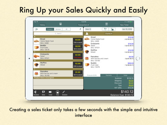 Ring It Up HD: Invoicing POS iPad Screenshot 1