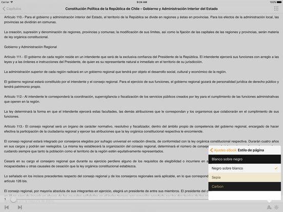 Constitución Política de la República de Chile iPad Screenshot 1