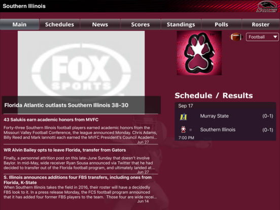Southern Illinois Salukis College SuperFans iPad Screenshot 3