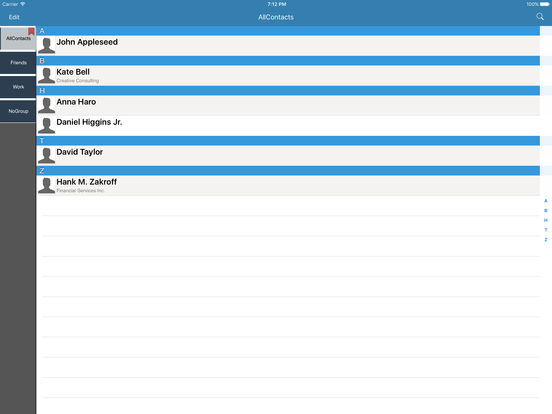 Contacts Group Manager,Group Mail,Group SMS,Group MMS - GContact Lite iPad Screenshot 1