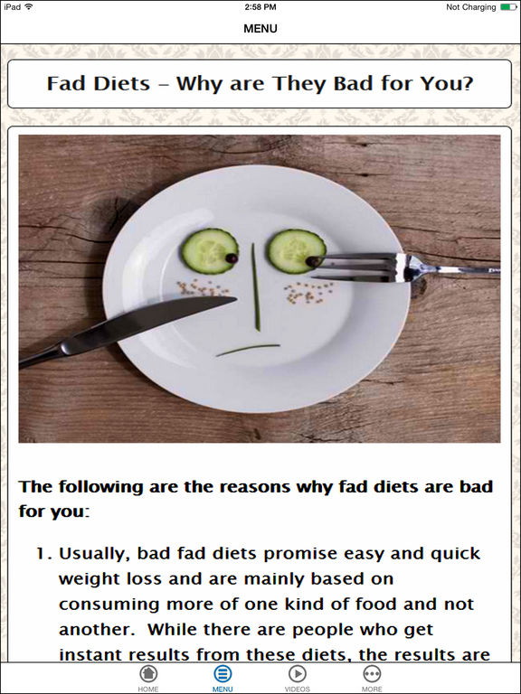 why fad dieting is bad essay
