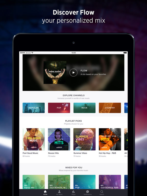 Screenshots of Deezer: Music Streaming, Songs, Albums & Artists for iPad
