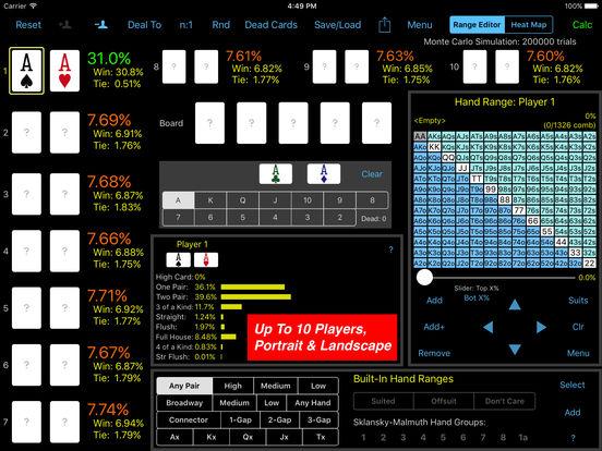 PokerCruncher for iPad - Advanced Odds iPad Screenshot 1