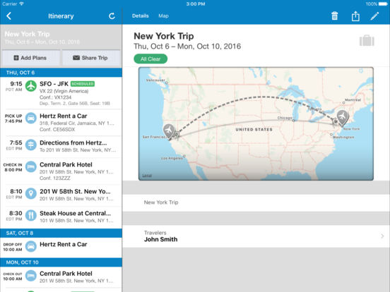 TripIt - Travel Organizer - FREE screenshot
