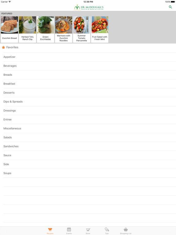 Dr. McDougall Mobile Cookbook screenshot