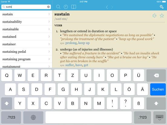 LexicEN English Dictionary & Thesaurus iPad Screenshot 2