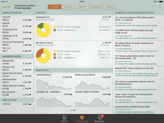 Danske Andelskassers mobilbank iPad Screenshot 2