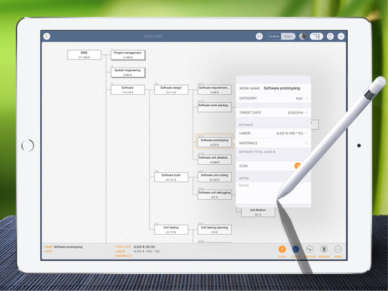 WBS - Project Work Breakdown Structure Management Screenshots