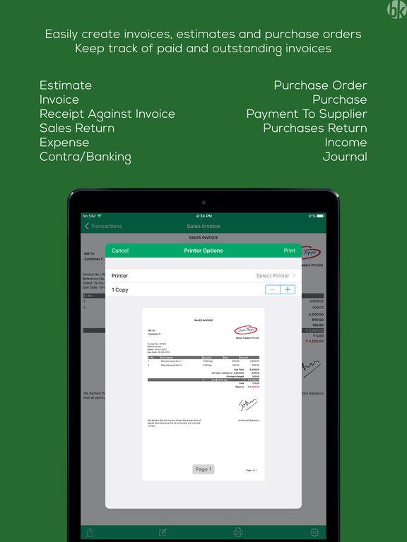Book Keeper Accounting + Invoicing screenshot