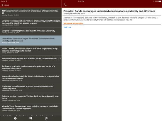 Hokie Mobile iPad Screenshot 3