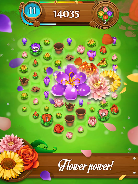 blossom blast saga fun flower match grow game on the app store. Black Bedroom Furniture Sets. Home Design Ideas