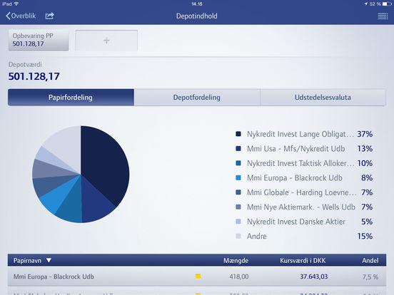 MitNykredit iPad Screenshot 5
