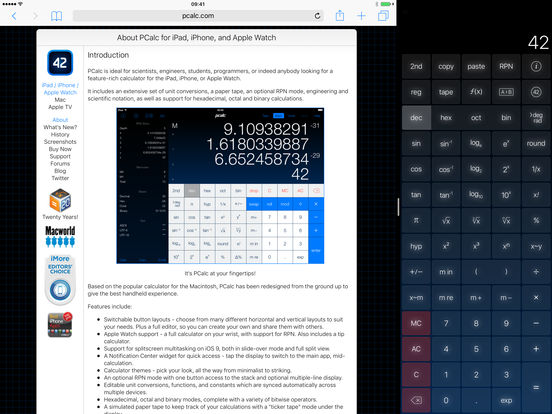 PCalc RPN Calculator iPad Screenshot 5