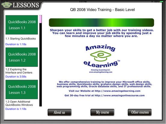 Quickbooks 08 HD Video Training iPad Screenshot 2