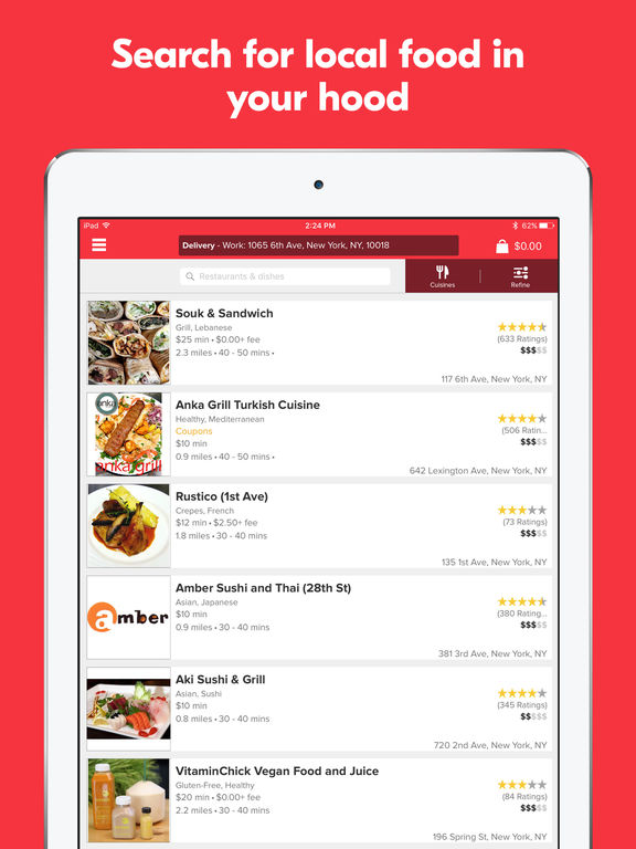 Grubhub Food Delivery & Takeout screenshot