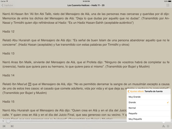 Los Cuarenta Hadices - Abu Zakaria An-Nawawi iPad Screenshot 1