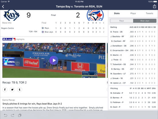 Yahoo Sports screenshot