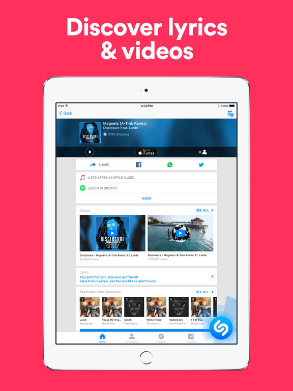 Shazam - Discover music, artists, videos & lyrics Screenshots