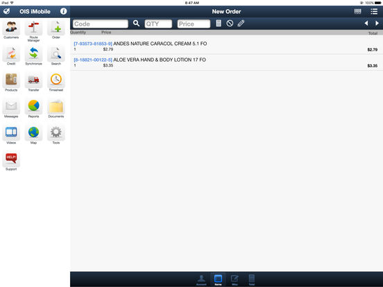 OIS iMobile iPad Screenshot 4