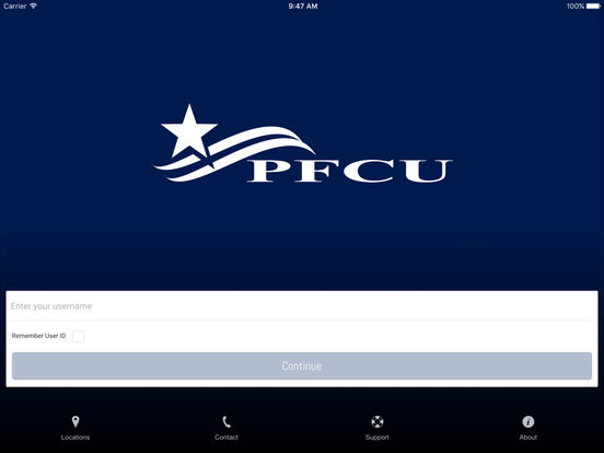 Portland FCU Mobile Banking iPad Screenshot 2
