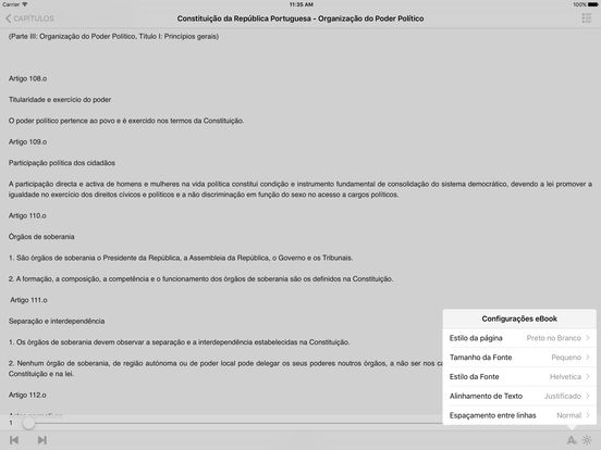 Constituição da República Portuguesa iPad Screenshot 2