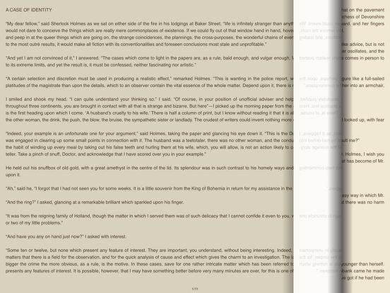 A Case of Identity - AudioEbook iPad Screenshot 1