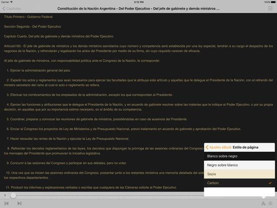 Constitución de la Nación Argentina iPad Screenshot 1