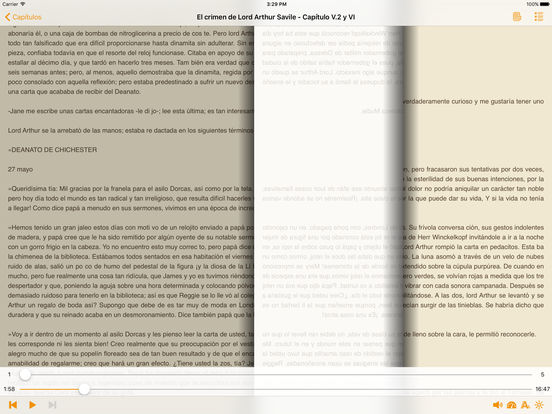 AudioEbook El crimen de Lord Arthur Savile de Oscar Wilde iPad Screenshot 1