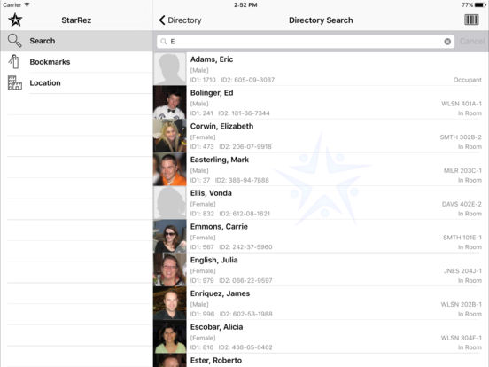StarRez iPad Screenshot 2