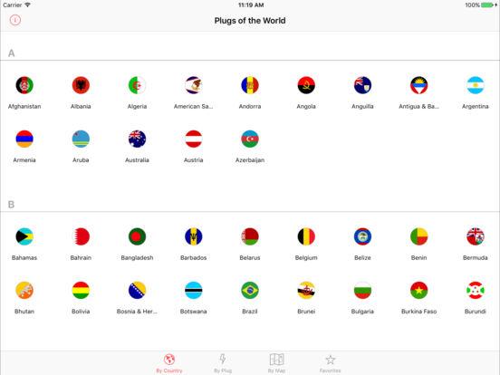 Plugs of the World iPad Screenshot 1
