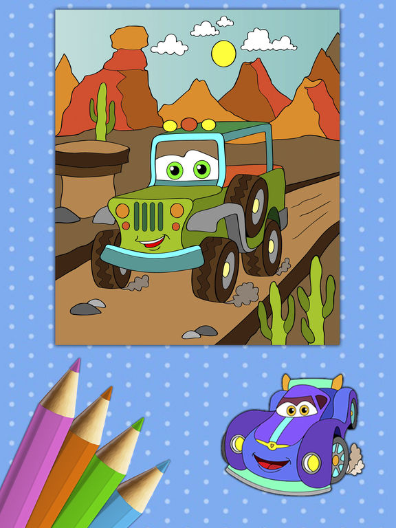 Автомобили Книжка-раскраска - Премиум Скриншоты9