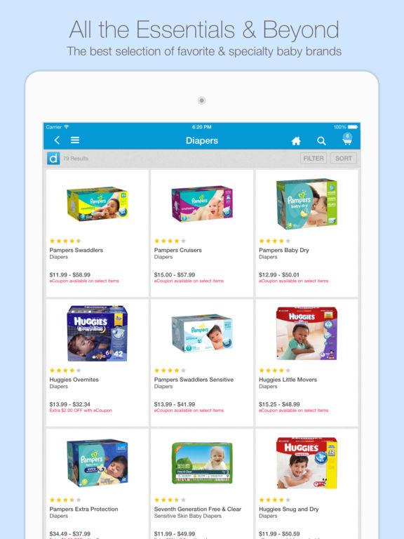 Diapers.com screenshot