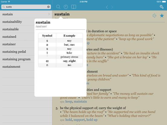 LexicEN English Dictionary & Thesaurus (Lite Version) iPad Screenshot 3
