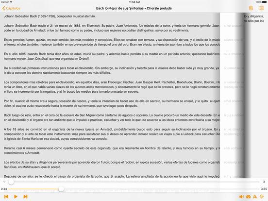 Bach lo Mejor de sus Sinfonías - AudioEbook iPad Screenshot 3