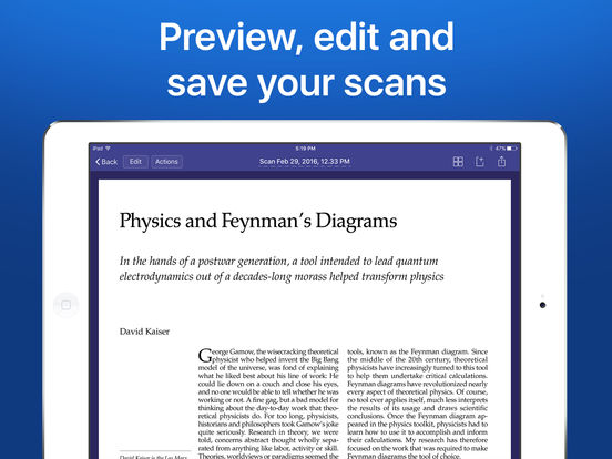 Scanner Pro - PDF document scanner with OCR iPad