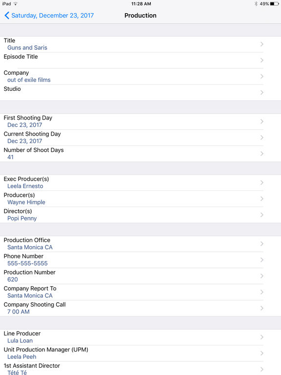 Pocket Call Sheet screenshot