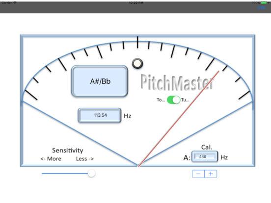PitchMaster iPad Screenshot 1