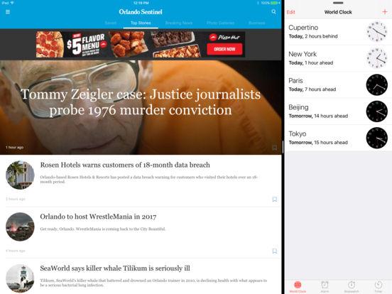 Orlando Sentinel iPad Screenshot 1