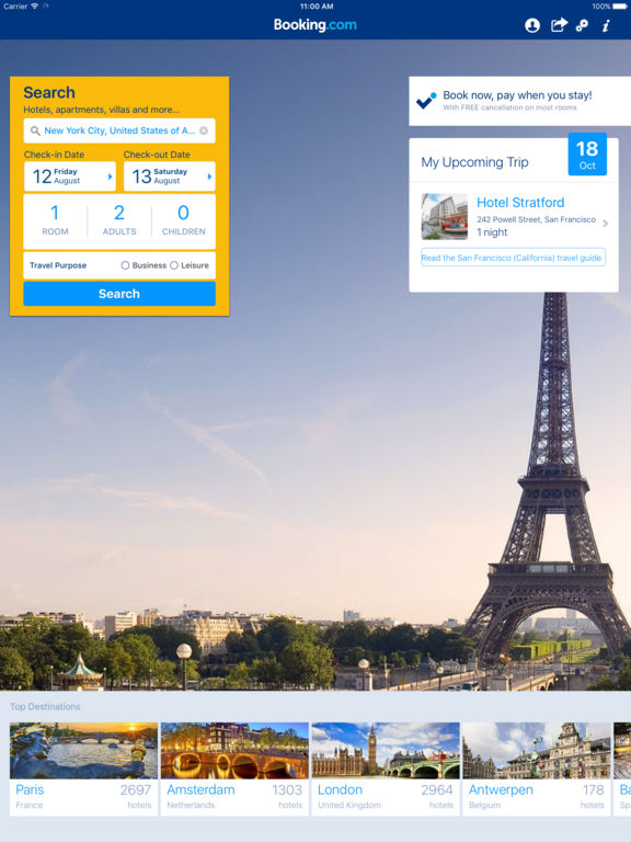 Booking.com Hotel Reservations Worldwide & Hotel Deals screenshot