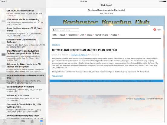 ClubRides iPad Screenshot 2