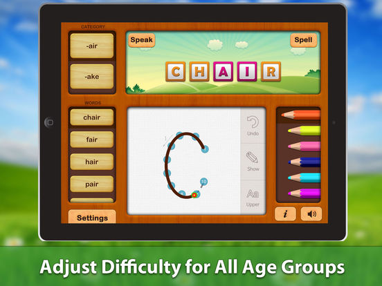 ABC Phonics Word Family Writing HD Free Lite - for iPad iPad Screenshot 5