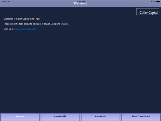 Coller Capital IRR Calculator App iPad Screenshot 4