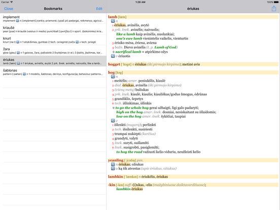 Anglonas - the English-Lithuanian dictionary iPad Screenshot 3