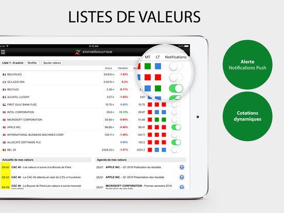 Zone Bourse iPad Screenshot 3