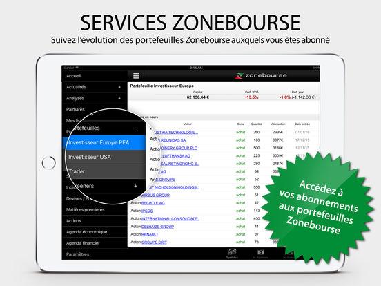 Zone Bourse iPad Screenshot 4