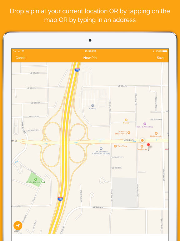 pinz : bookmark and organize location pins Screenshots