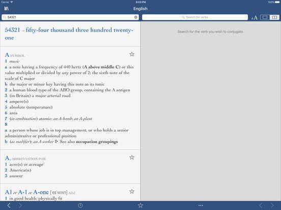 Collins Pro English Dictionary iPad Screenshot 3